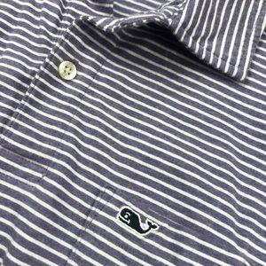 Vineyard Vines Purple & White Edgartown Polo  S